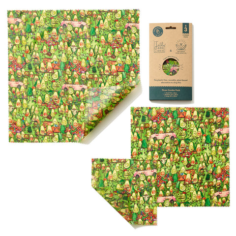 The Food Wrap Co. Vegan Wax Wraps – Jelly Armchair Avocado Park Print