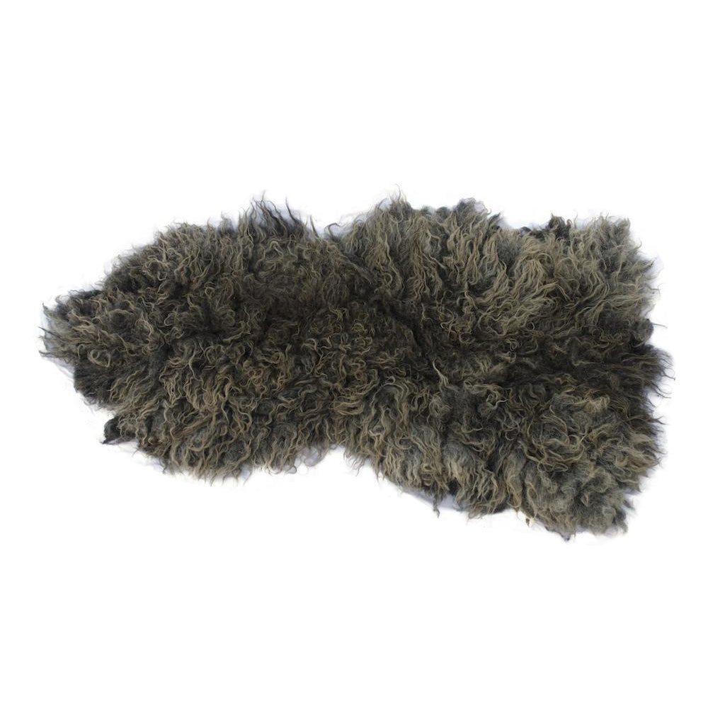 Friendly Fleeces Brown Hebridean Vegan Sheepskin Rug