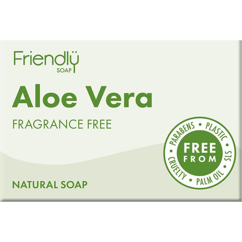 Friendly Soap Bar Aloe Vera Fragrance Free Soap Bar - 95g