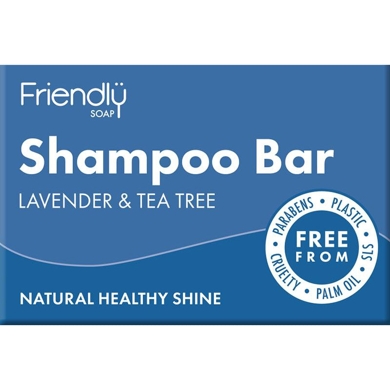 Friendly Soap Lavender & Tea Tree Shampoo Bar - 95g