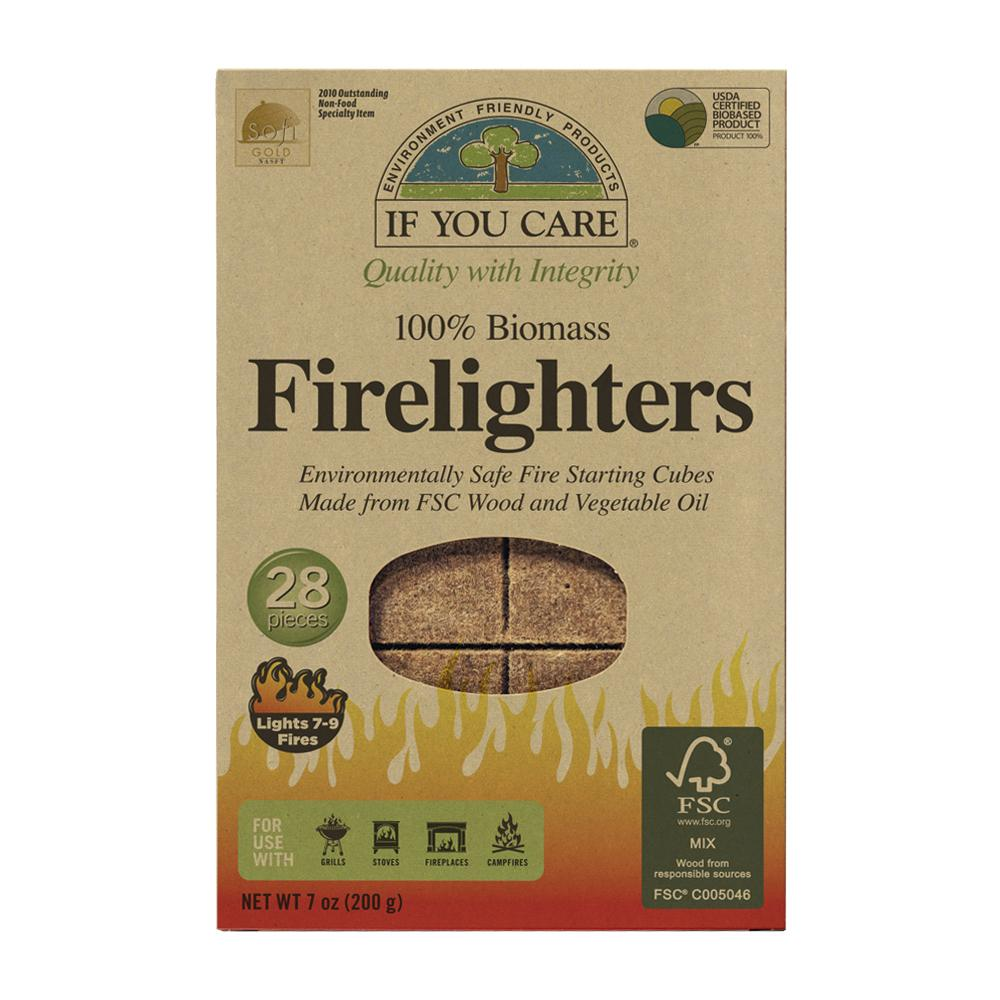 If You Care 100% Biomass Firelighters  28s