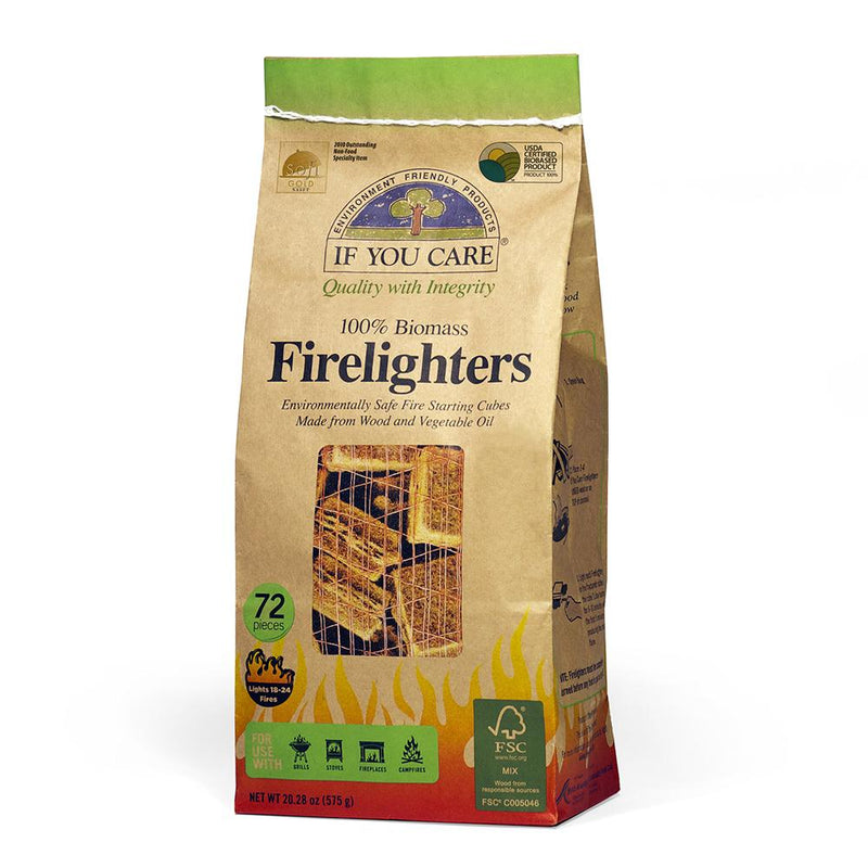 If You Care 100% Biomass Firelighters  72s