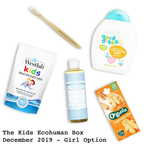 The Kids Ecohuman Monthly Subscription Box . Always vegan and cruelty free. December 2020 past box