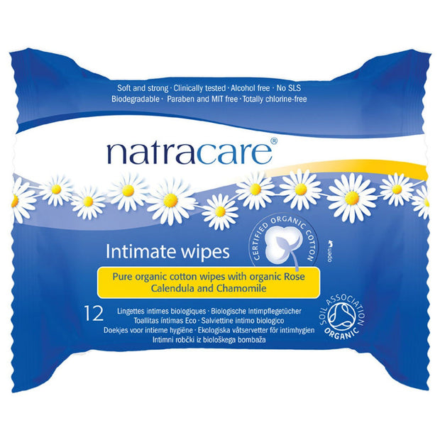 Natracare Intimate Wipes 12s