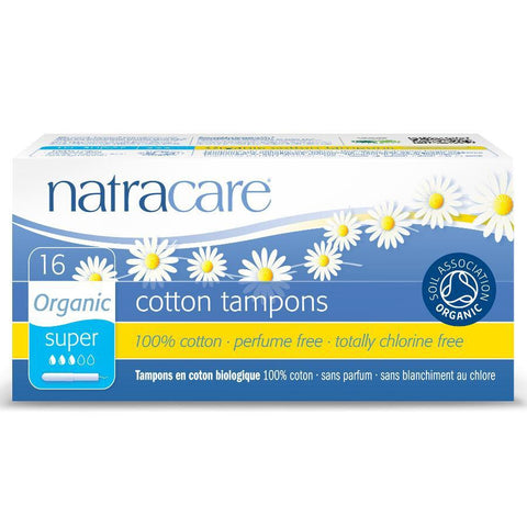 Natracare Organic Applicator Tampons Super 16s