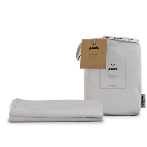 Panda 100% Bamboo Pillowcases – Twin Pack