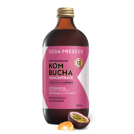 Soda Press Organic Kombucha (Passionfruit & Mandarin) Syrup – 500ml