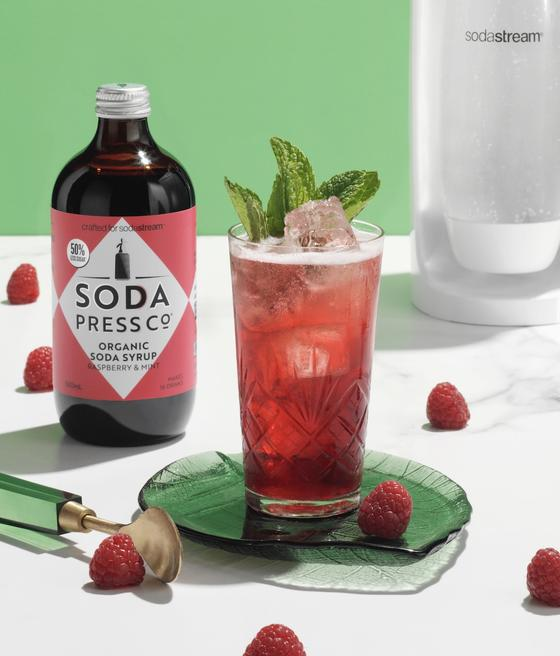 Soda Press Organic Raspberry & Mint Syrup – 500ml