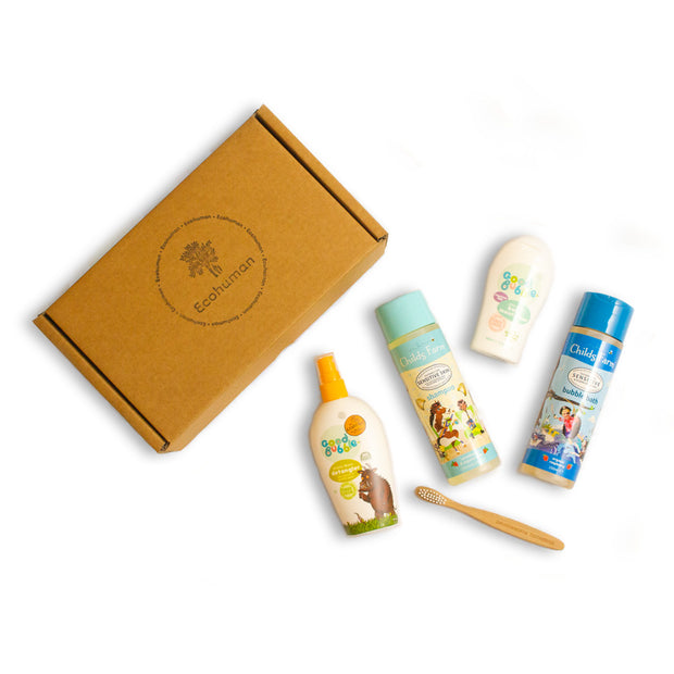 The Kids Ecohuman Prepaid Monthly Subscription Box. Always vegan and cruelty free.