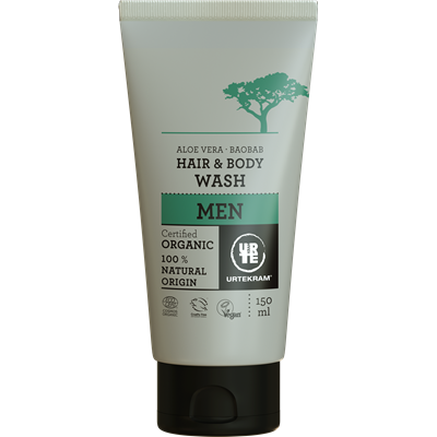 Urtekram Men's Aloe Vera Hair & Body Wash 50ml