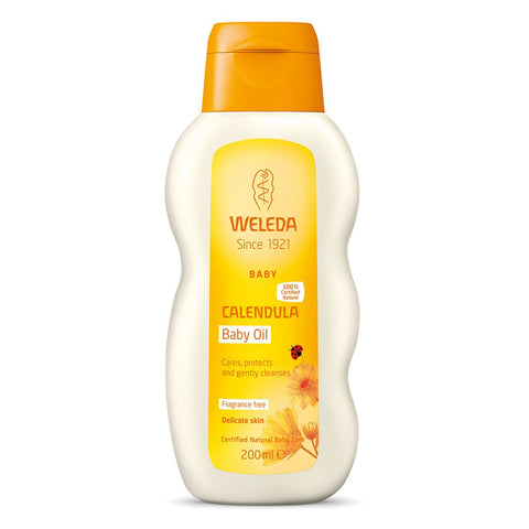 Weleda Calendula Fragrance Free Baby Oil 200ml
