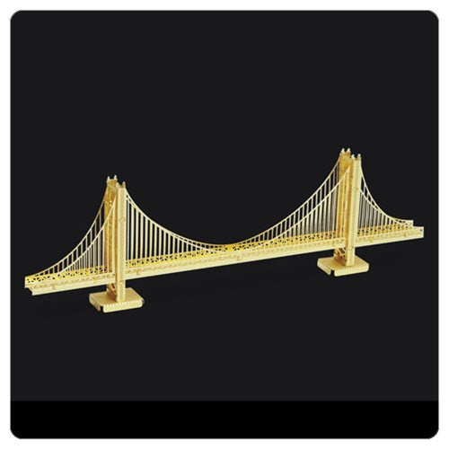 Metal Earth 3D Metal Model - Golden Gate Bridge in Gold