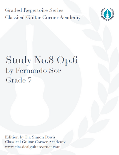 Study Op.6, No.8 by Sor