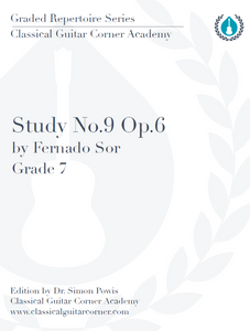 Study No.9, Op.6 by Sor