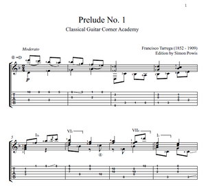 Prelude No.1 by Tarrega
