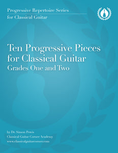 10 Progressive Pieces for Classical Guitar (Beginner) [PDF]
