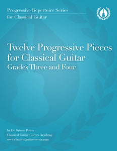12 Progressive Pieces for Classical Guitar (Beginner/Intermediate) [PDF]