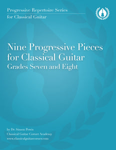 9 Progressive Pieces for Classical Guitar (Advanced) [PDF]
