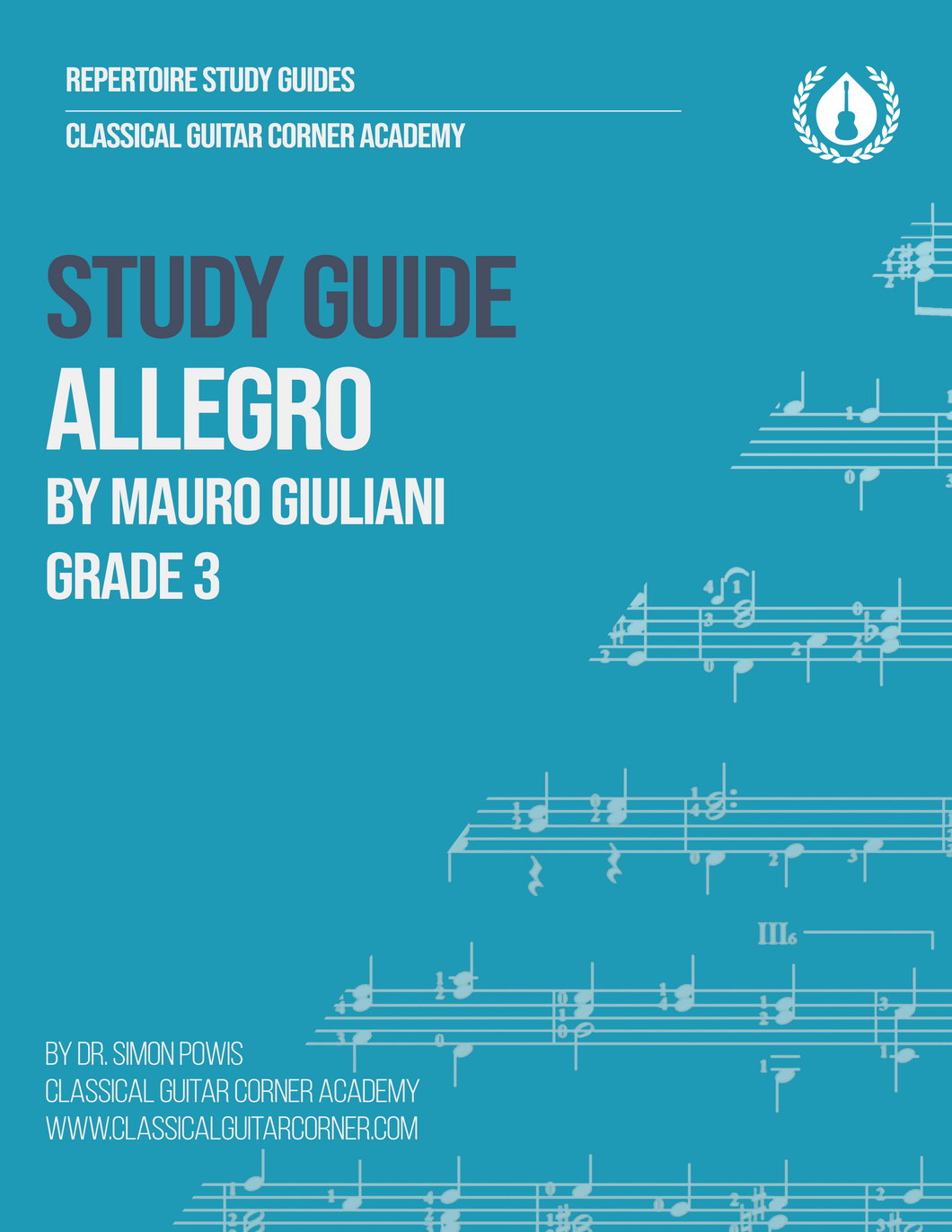 Allegro by Mauro Giuliani Study Guide [PDF]
