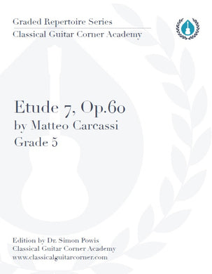 Etude 7 Op.60 by Matteo Carcassi TAB