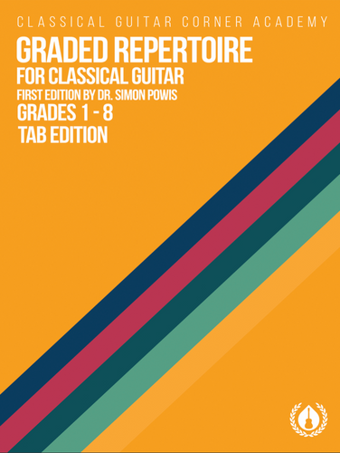 Graded Repertoire for Classical Guitar Tab Edition [Spiral Bound]