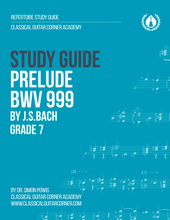 Load image into Gallery viewer, Prelude BWV 999 Study Guide