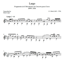 Load image into Gallery viewer, Largo BWV 1056 by J.S. Bach