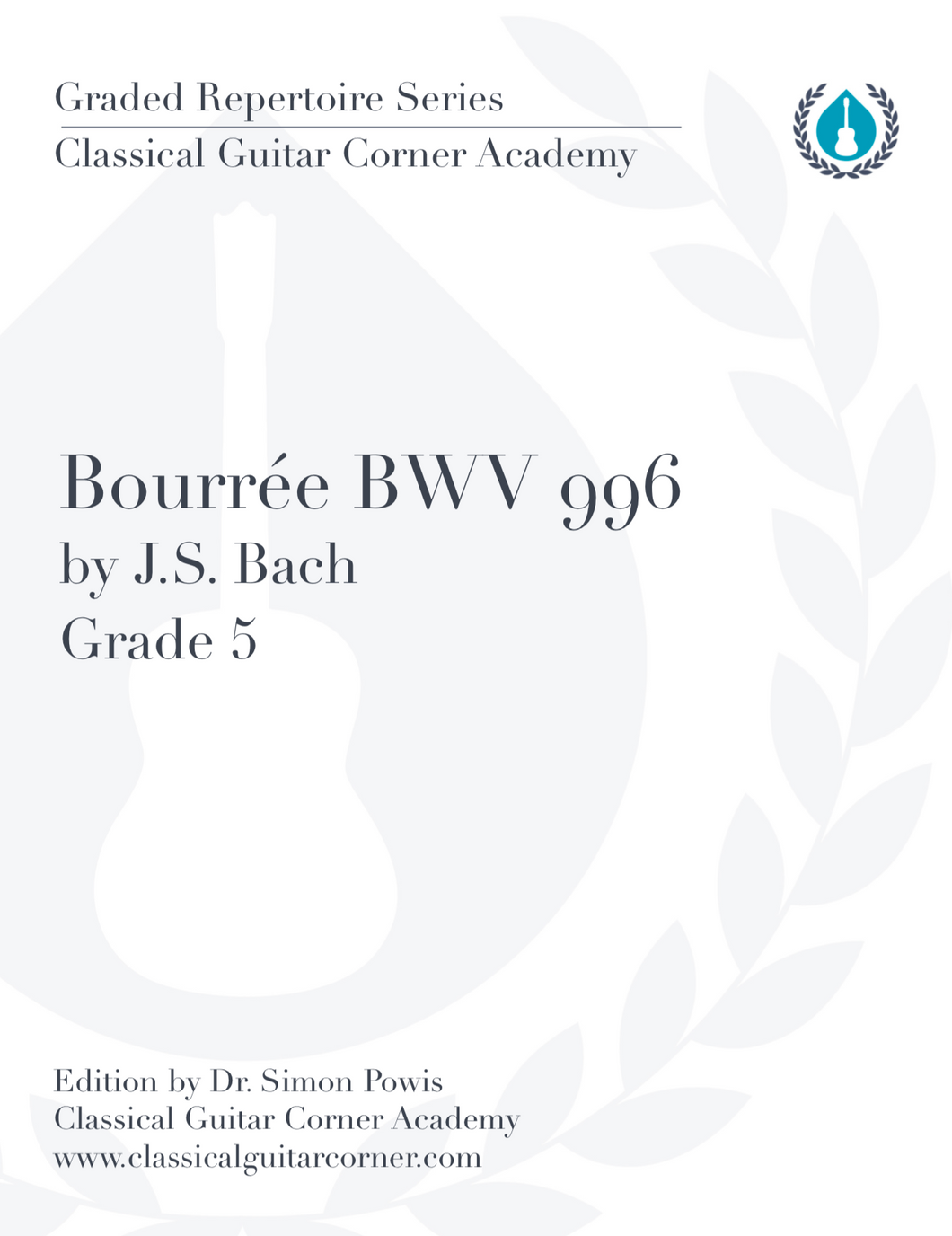 Bourrée by J.S. Bach BWV 996