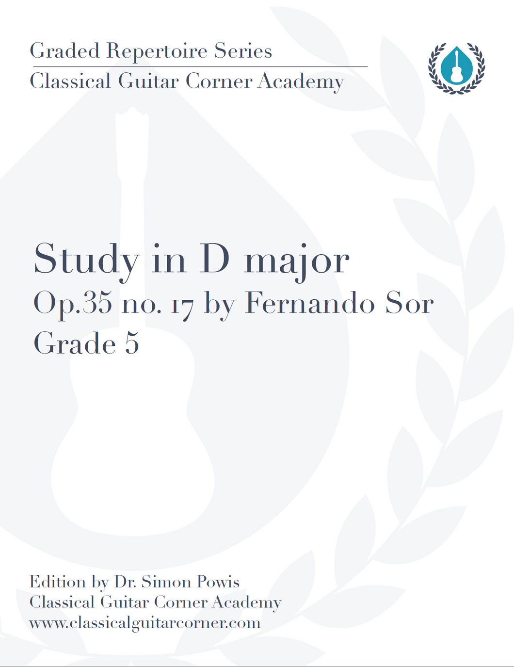 Study in D major Op.35 no.17 TAB by Fernando Sor