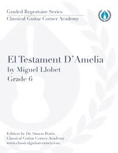 Load image into Gallery viewer, El Testament D'Amelia TAB by Miguel Llobet