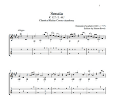 Load image into Gallery viewer, Sonata K322 TAB by Domenico Scarlatti