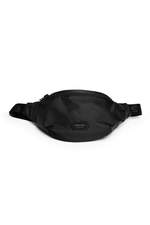 BLACK BUM BAG WITH BLACK FURORA BELT