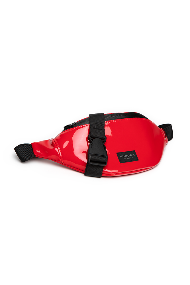 RED VINYL BUM BAG