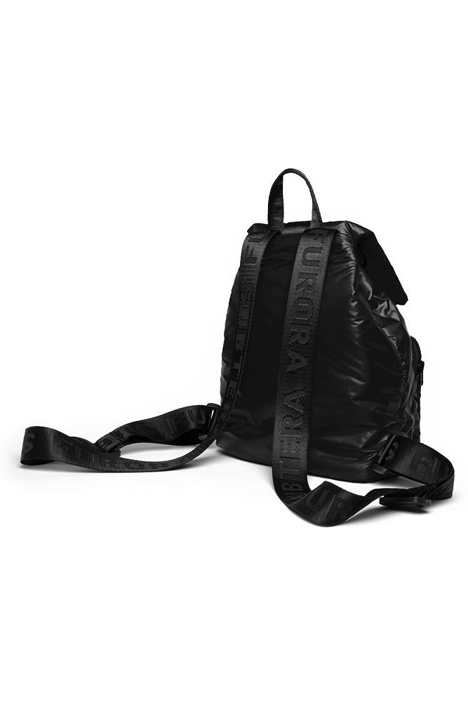 BLACK MINI PUFFER BACKPACK