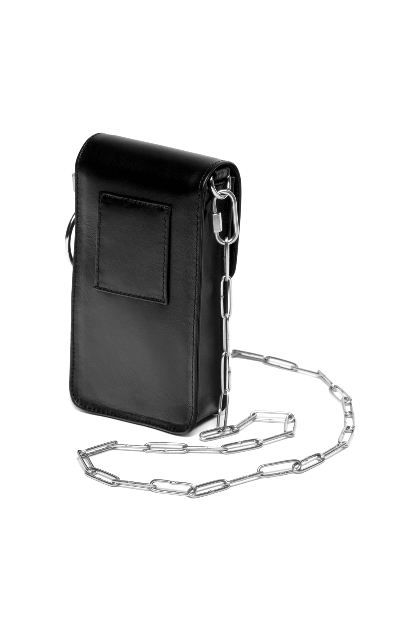 LEATHER CROSSBODY CHAIN BAG
