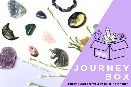 Healing Crystal Mystery subscription box the Journey Box crystals for your custom intention | Hekatos