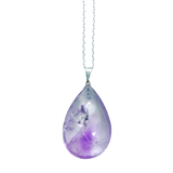 Amethyst Drop Necklace Necklace - Hekatos Healing Crystals and Spirituality Supplies