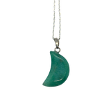 Green Aventurine Crescent Moon Necklace