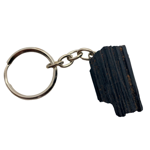 Black Tourmaline Keychain Keychain - Hekatos Healing Crystals and Spirituality Supplies