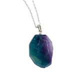 Fluorite Pendant Necklace Necklace - Hekatos Healing Crystals and Spirituality Supplies