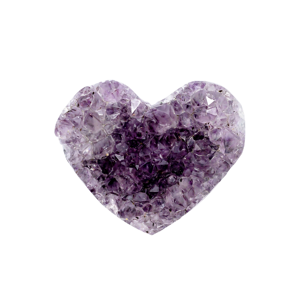 Amethyst Cluster Heart (Mini) Crystal Cluster - Hekatos Healing Crystals and Spirituality Supplies