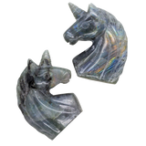 Labradorite Unicorn Carved Crystal - Hekatos Healing Crystals and Spirituality Supplies