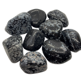 Snowflake Obsidian Tumbled Crystal (Large) Tumbled Crystal - Hekatos Healing Crystals and Spirituality Supplies