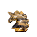 Tiger's Eye Unicorn Carved Crystal - Hekatos Healing Crystals and Spirituality Supplies