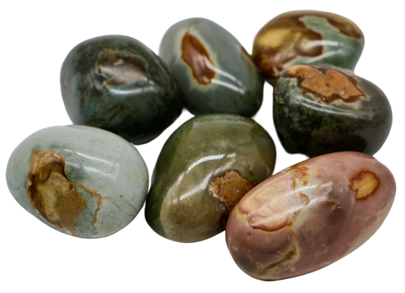 Polychrome Jasper Palm Stone Palm Stone - Hekatos Healing Crystals and Spirituality Supplies