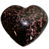 Rhodonite Heart (Large) Heart Stone - Hekatos Healing Crystals and Spirituality Supplies