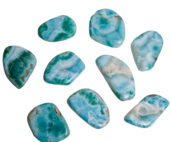 Larimar Tumbled Tumbled Crystal - Hekatos Healing Crystals and Spirituality Supplies