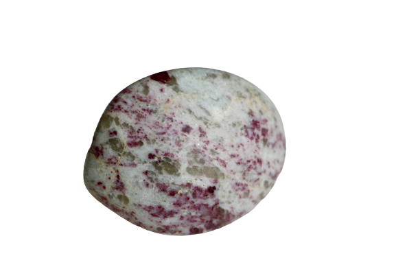 Rubellite (Pink Tourmaline) in Quartz Palm Stone