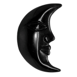Black Obsidian Crescent Moon Carved Crystal - Hekatos Healing Crystals and Spirituality Supplies