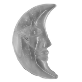 Clear Quartz Crescent Moon Carved Crystal - Hekatos Healing Crystals and Spirituality Supplies
